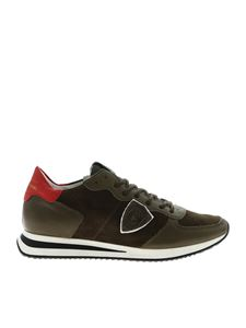 Philippe Model - Trpx L sneakers in Army green color