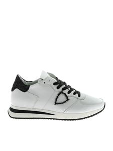 Philippe Model - Trpx L white sneakers with black glitter