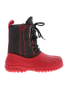 GCDS - Red ankle boots with black leg