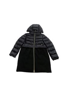Herno - Black down jacket with wool detail
