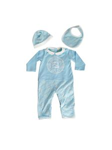 Fendi Jr - Baby boy set in light blue cotton jersey