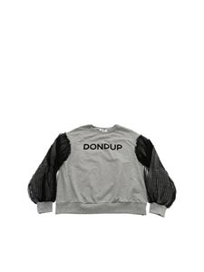 Dondup - Grey sweatshirt with tulle sleeves