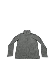 Dondup - Turtleneck t-shirt in grey and silver color