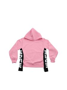 MSGM - Pink sweatshirt with contrasting logo stripes