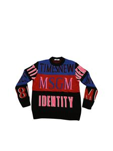 MSGM - Colorblock pullover with logo