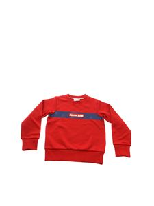 Moncler Jr - Red sweatshirt with logo patch