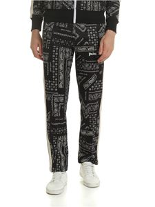 Palm Angels - Black trousers with Bandana print