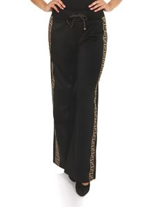 Fendi - Wide tracksuit-style trousers in black
