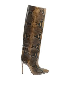 Paris Texas - Brown and black reptile printed boots
