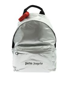 Palm Angels - Silver laminated-effect backpack