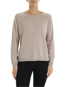 Kangra Cashmere - Beige pullover with sequin patches