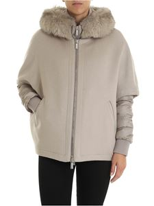 Moorer - Pegaso down jacket in dove grey color