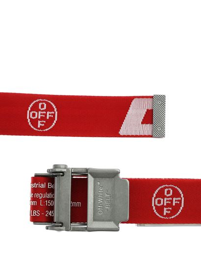 dettagliare 54869 47391 Off-White Fall Winter 19/20 industrial 2.0 belt in red and white ...