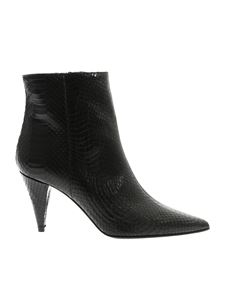Marc Ellis - Black reptile effect ankle boots