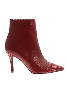 Marc Ellis - Burgundy reptile effect ankle boots