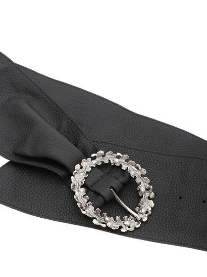 Orciani - Black belt with silver buckle