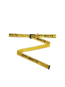 Off-White - Yellow and black industrial belt