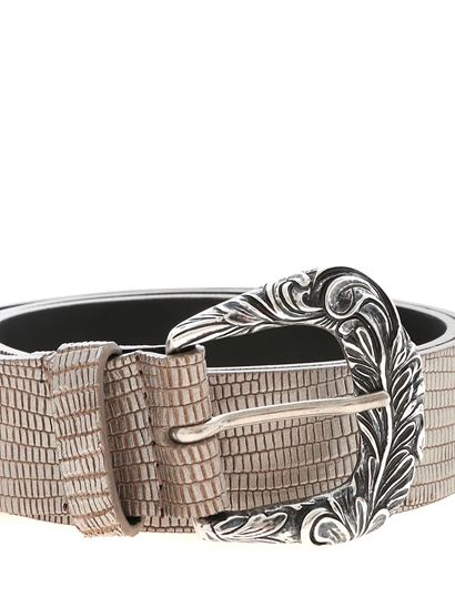 Orciani - Silver and beige belt
