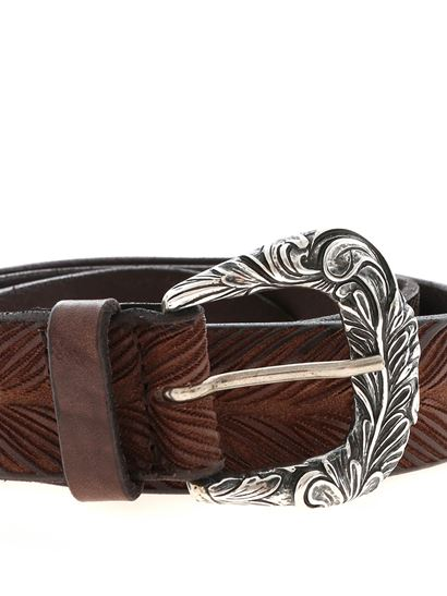 Orciani - Carved brown belt
