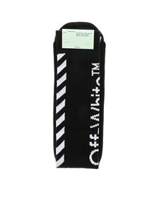 Off-White - Calzini Carryov Diag neri