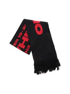 Off-White - Bats scarf in black and red