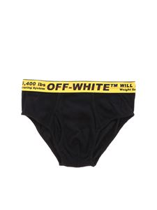 Off-White - Black slip with branded band