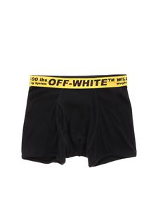 Off-White - Black boxer with branded band