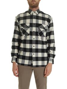 Woolrich - Shirt with black and white checkered pattern