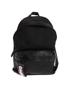 Dsquared2 - Black backpack with DSQUARED2 logo