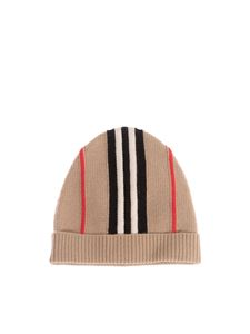 Burberry - Berretto Iconic Stripe beige