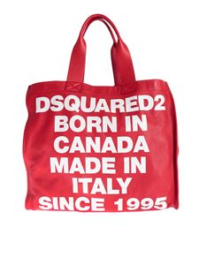 Dsquared2 - Canadian Heritage shopping bag in red