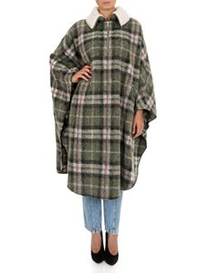 Isabel Marant Étoile - Gabin cape in green with tartan pattern