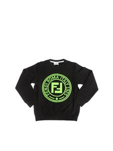 Fendi Jr - Black Fendi Stamp sweatshirt