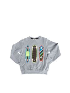 Fendi Jr - Skate Mas sweatshirt in melange grey