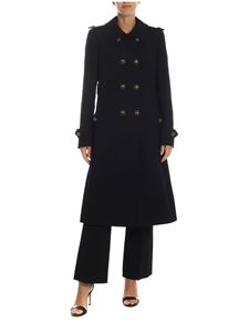 Dolce & Gabbana - Coat in black double crepe