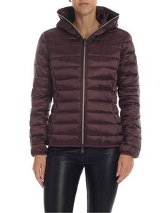 Save the duck - Quilted down jacket in plum color