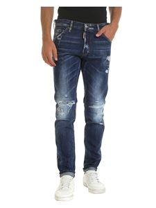 Dsquared2 - Jeans blu effetto destroyed