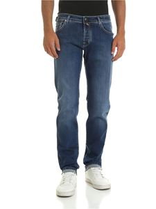 Jacob Cohën - Faded jeans in blue