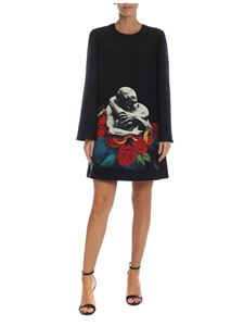Valentino - Black dress with multicolor print