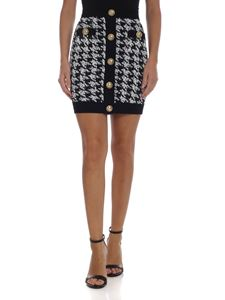 Balmain - Houndstooth print short skirt
