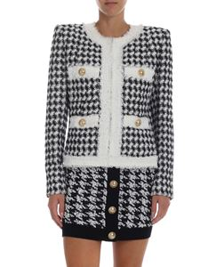 Balmain - Black and white jacket with sequins