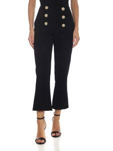 Balmain - Pantalone crop con bottoni decorati