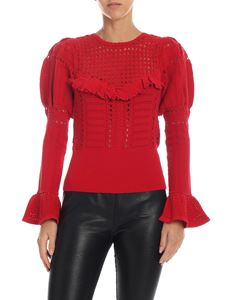 Self-Portrait - Red sweater with ruffles