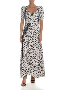 Self-Portrait - White animal print dress