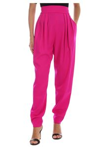 The Attico - Fuchsia trousers with elastic waistband