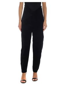The Attico - High waist trousers in black velvet