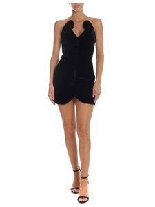 The Attico - Slim-fit dress in black velvet