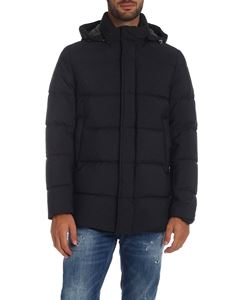Herno - Down jacket in melange dark gray with hood