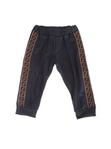 Fendi Jr - Jogging pants in Royal Blue color