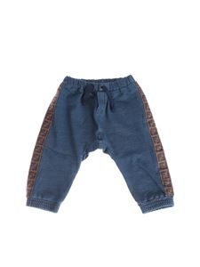 Fendi Jr - Bunx fleece trousers in blue